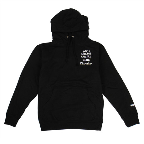 Turbo' ASSC Logo Hooded Sweatshirt // Black (S)