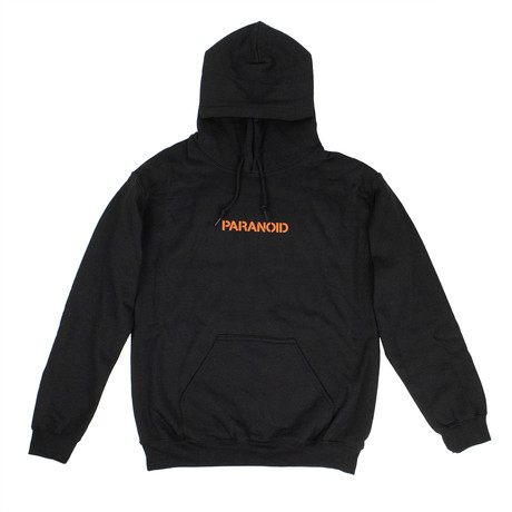 """Paranoid"" Hooded Sweatshirt // Black (S)"