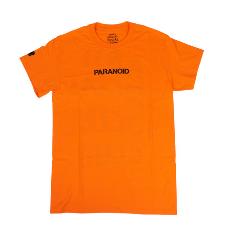 Paranoid' ASSC Logo T-Shirt // Orange (S)
