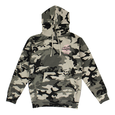 Camo 'Not Gildan' Hooded Sweatshirt // Green (S)
