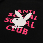 Playboy Remix ASSC Hooded Sweatshirt // Black (M)