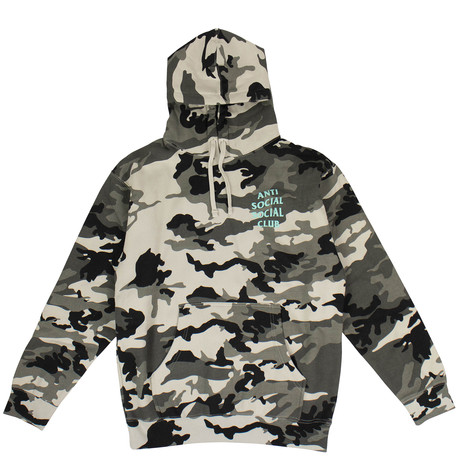 Camo 'Melrose Ave' Hooded Sweatshirt // Green (S)