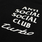 Turbo ASSC Logo Hooded Sweatshirt // Black (S)