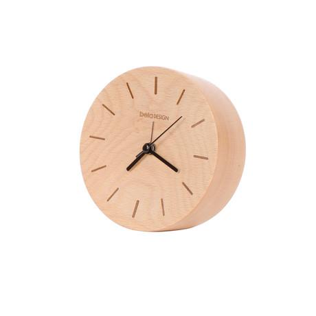"""Wood Clock // Line (4.7"""" Diameter)"""
