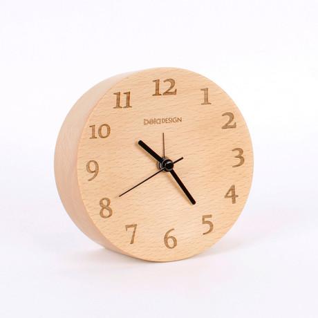 """Wood Clock // Digital (4.7"""" Diameter)"""