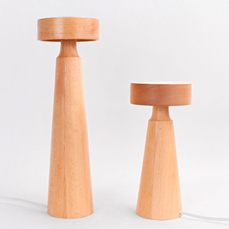 Wood Tower LED Reading Lamp // Small