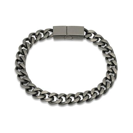 "Cubano Bracelet // Antiqued Silver (7.5"")"