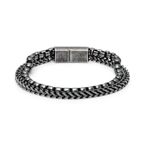 """Conda Mini Bracelet // Antiqued Silver (7.5"""")"""