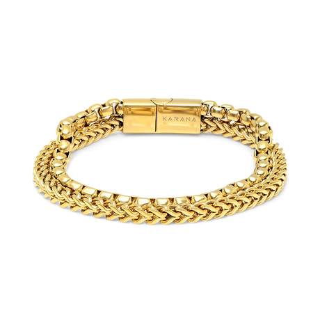"Conda Mini Bracelet // Gold (7.5"")"