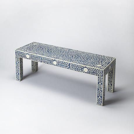 Marquise Bone Inlay Bench