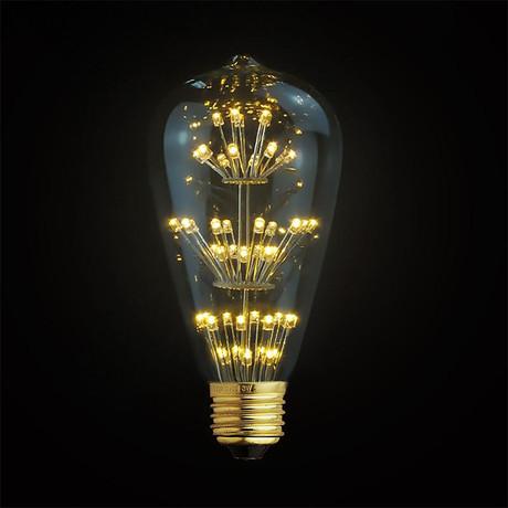 3W LED Classic Edison Fireworks Light Bulb