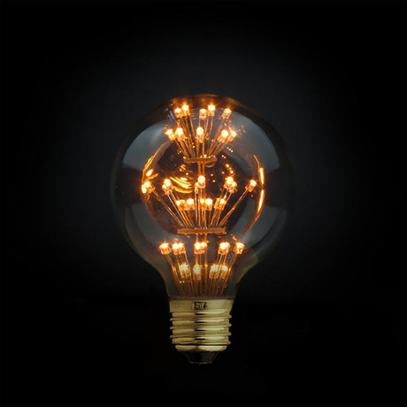 3W LED Fireworks Edison Globe Filament Light Bulb