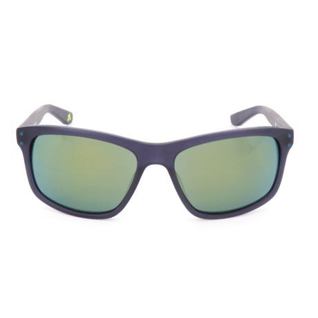 Men's Flow Sunglasses // Matte Blue + Green