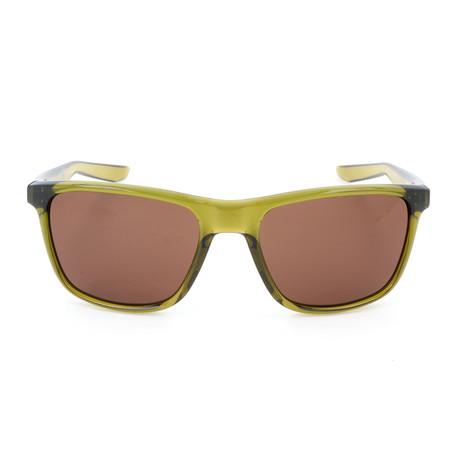 Men's Unrest Sunglasses // Camper Green + Dark Brown