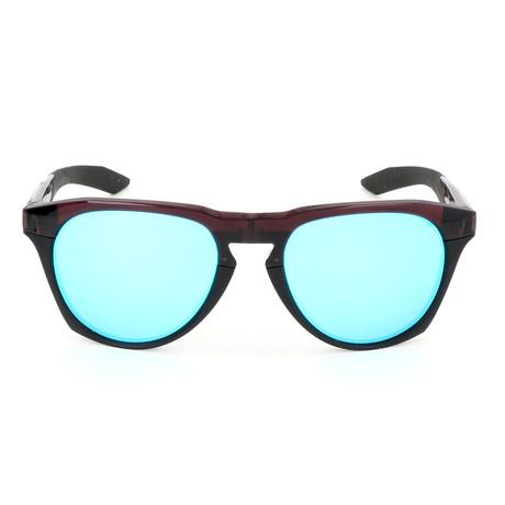 Men's Essential Navigator Sunglasses // Port Wine + Green