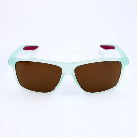 Unisex Sunglasses // Matte Igloo + Dark Brown