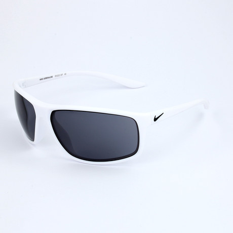 Nike // Men's Sunglasses // Matte White + Dark Gray