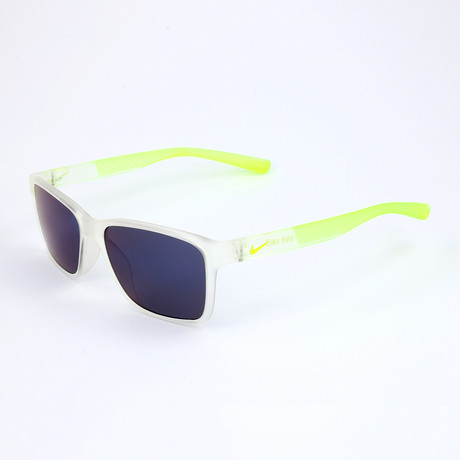 Nike // Men's Sunglasses // Matte Crystal Clear + Green