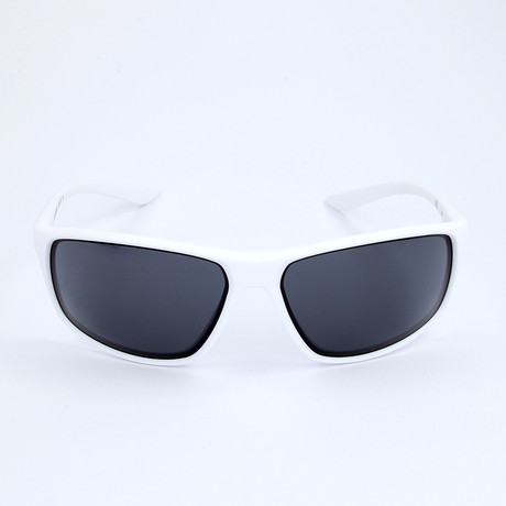 Men's Sunglasses // Matte White + Dark Gray