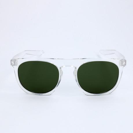 Men's Flatspot Sunglasses // Clear + Green