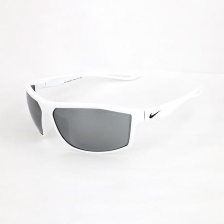 Men's Intersect Sunglasses // White + Gray Silver