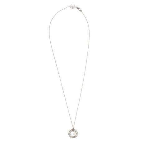Mimi Milano 18k White Gold Diamond + White Cultured Freshwater Pearl Pendant Necklace