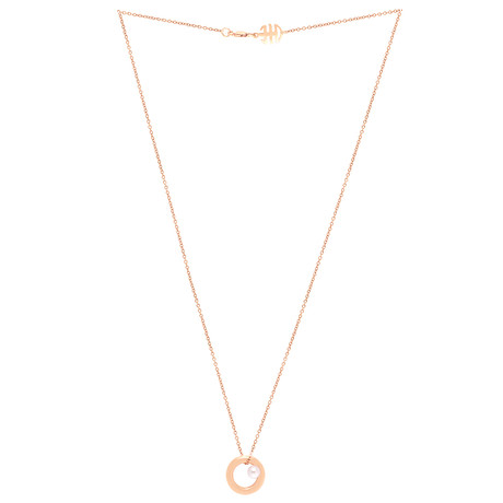 Mimi Milano 18k Rose Gold Violet Cultured Pearl Pendant Necklace