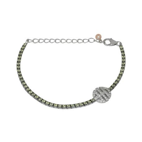 Mimi Milano Sterling Silver Multi-Stone Bracelet