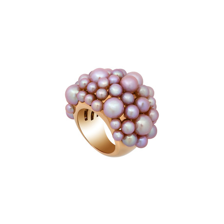 Mimi Milano 18k Rose Gold Violet Cultured Freshwater Pearl Ring // Ring Size: 6
