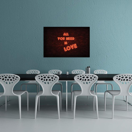 """All You Need Is Love // Philippe Hugonnard (40""""W x 26""""H x 1.5""""D)"""