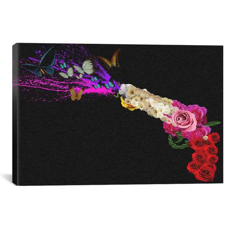 """Rose Revolver // Unknown Artist (18""""W x 12""""H x 0.75""""D)"""