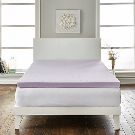 "LoftWorks // 2"" Lavender-Infused Deep Sleep Therapy Mattress Foam Topper (Twin)"