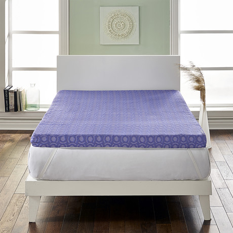 "LoftWorks // 4"" Supreme Memory Foam Mattress Topper // Medium Firm Support (Full)"
