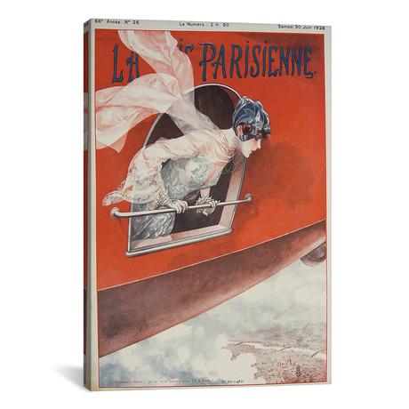 """Art Deco Airplane La Vie Parisienne, 1928 // Vintage Apple Collection (12""""W x 18""""H x 0.75""""D)"""