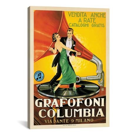 "Grafofoni Columbia, 1920 Ca. // Top Art Portfolio (12""W x 18""H x 0.75""D)"
