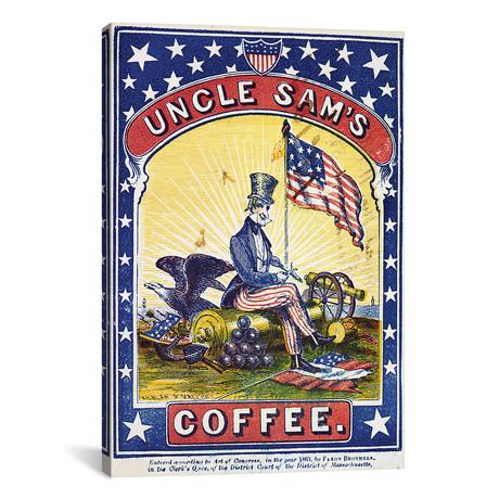 """Coffee Label, C1863 // Kilburn & Mallory (12""""W x 18""""H x 0.75""""D)"""