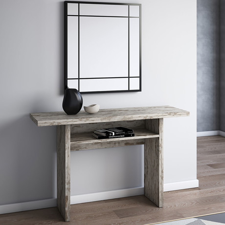 GRACE // Console Table (Light Oak Wood Grain Melamine)