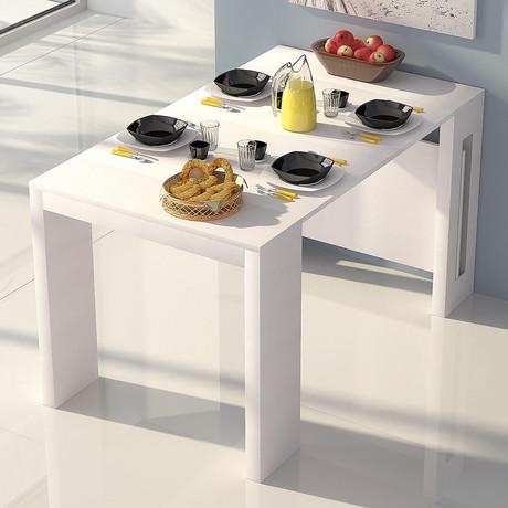 HAILEY // Console Table (Black Marbled Grain Melamine)