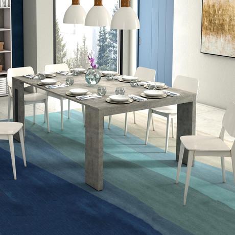 GIANNA // Console Table (Light Gray Concrete Grain Melamine)