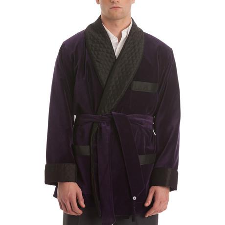 Velvet Smoking Jacket // Purple (S)