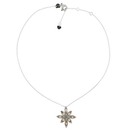 Pasquale Bruni 18k White Gold Ghirlanda Diamond Pendant Necklace