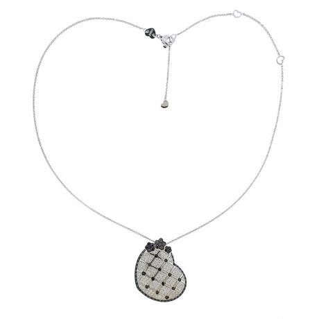 Pasquale Bruni 18k White Gold Lulu Diamond Heart Pendant Necklace