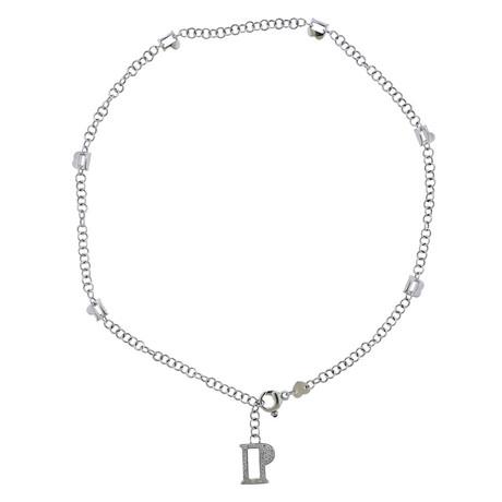 Pasquale Bruni 18k White Gold Charm Diamond Pendant Necklace