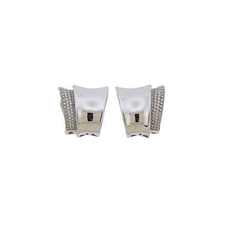 Pasquale Bruni 18k White Gold Diamond Ear Clips Earrings