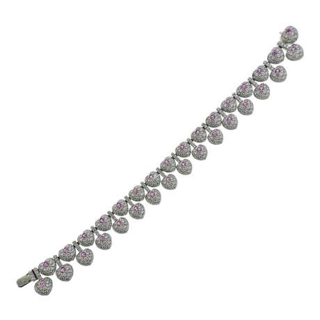 Pasquale Bruni 18k White Gold Vanita Diamond Sapphire Bracelet