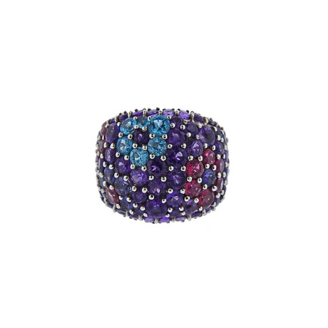 Pasquale Bruni 18k White Gold Multi-Stone Ring // Ring Size: 6