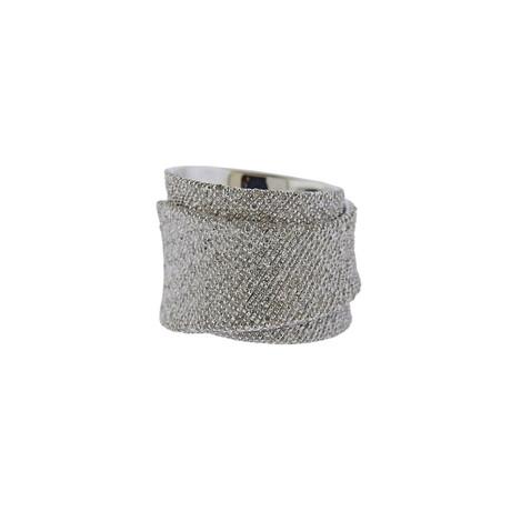 Pasquale Bruni 18k White Gold Diamond Ring // Ring Size: 7