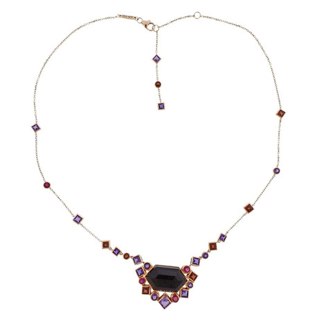 Stephen Webster 18k Rose Gold Struck Multi-Stone Necklace I