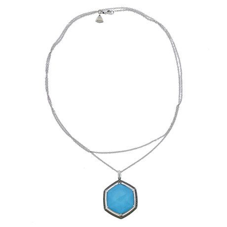Stephen Webster 18k White Gold Deco Multi-Stone Necklace
