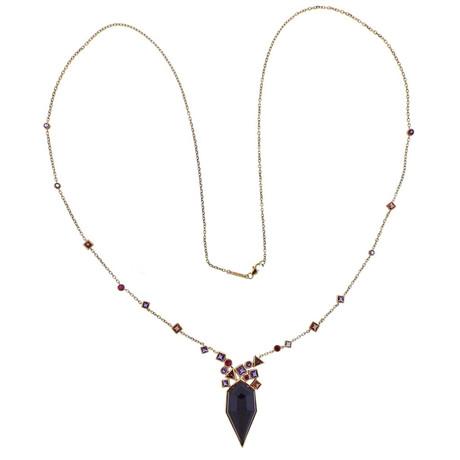 Stephen Webster 18k Rose Gold Struck Multi-Stone Necklace II